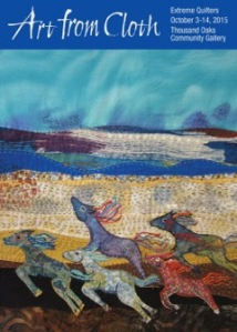 I will have art quilts in the gallery and fabric pottery in the boutique.